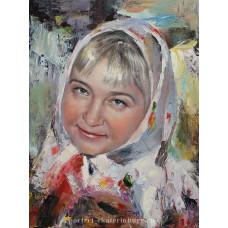 Дамский портрет. Живопись: холст, масло. 40х30 см. 2018 г.
