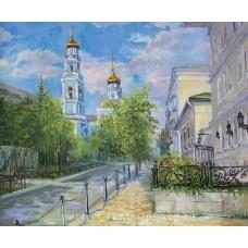 Июль на улице Тургенева. Живопись: холст, масло. 50х60см. 2015г.