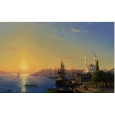 Айвазовский Иван. Вид на Константинополь. Заказать копию tkat82@mail.ru