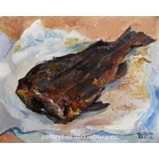 Дяди Колина рыба. Живопись: бумага, масло. 31х22см. 2012г.