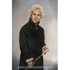 Дамский портрет. Холст, масло . 60х40см. 2007г.