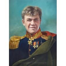 Мужской портрет в военной парадной форме. Живопись: холст, масло. 38х28см. 2016г.