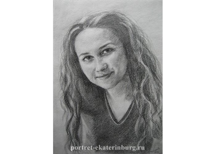 Портрет девушки карандашом. Графика: бумага, карандаш. 30х21см. 2013г.