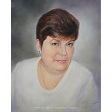 Портрет в подарок жене, маме. Живопись: холст, масло. 50х40см. 2016г.