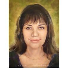 Портрет жены. Подарок любимой. Живопись: холст, масло. 40х30см. 2016г.