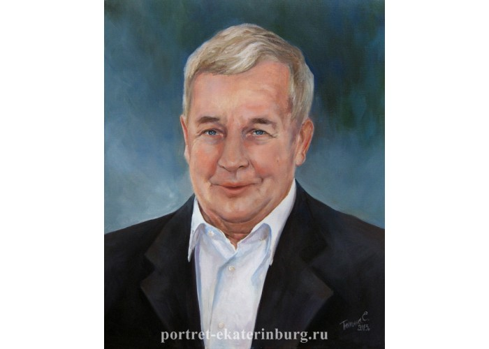 Пожилой мужчина. Погрудный портрет. Живопись: холст, масло. 50х40см. 2013г.