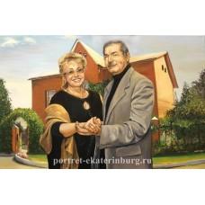 Семейный портрет. Живопись: холст, масло. 40х60см. 2009г.