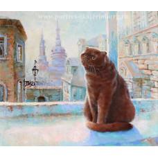 Портрет кота Тихона. Живопись: холст, масло. 60х70см. 2016г.