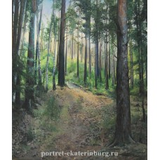 В лесу. Живопись: холст, масло. 70х60см. 2008г